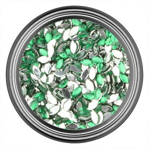 Green-Oval-Rhinestone-Gems-Flat-Back-Face-Art-Nail-Art-Scrapbook-Phone-3mm