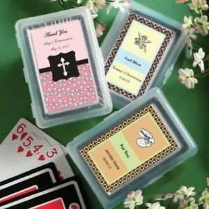 Image Is Loading 40 Personalized Playing Cards Wedding Bridal Baby Shower