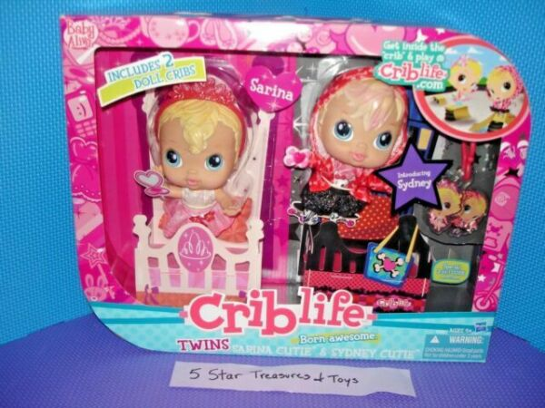 RARE Baby Alive Crib Life 2010 Sydney Cutie Doll Toy Born Awesome NEW
