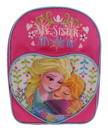 Official Disney Frozen 'My Sister My Hero' School Bag Backpack New Gift