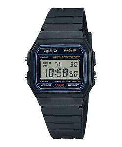 Casio-Classic-F91W-1-WR-Digital-Black-Resin-Wrist-Watch-Alarm-F-91-USA-Seller