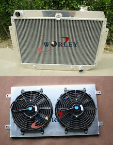 Aluminum-Radiator-Shroud-Fan-for-Holden-HG-HT-HK-HQ-HJ-HX-HZ-V8-Chevy-engine-AT