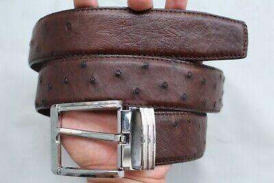 Dark Brown Men/'s Ostrich Leather Belts