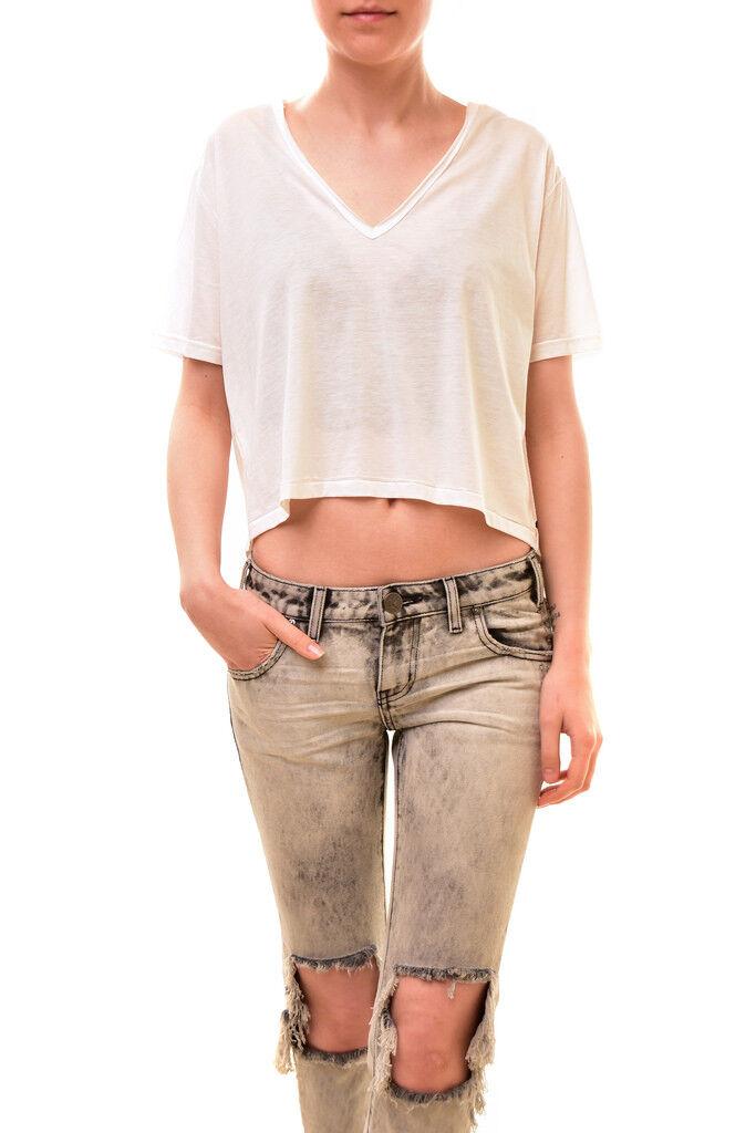 One Teaspoon Woherren  Short Sleeve T-Shirt Weiß Größe XS S RRP  BCF84