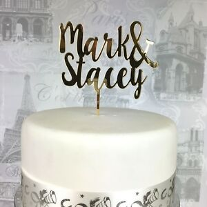 Personalised Wedding Cake Topper First Names Mr Mrs Cake Topper Uk