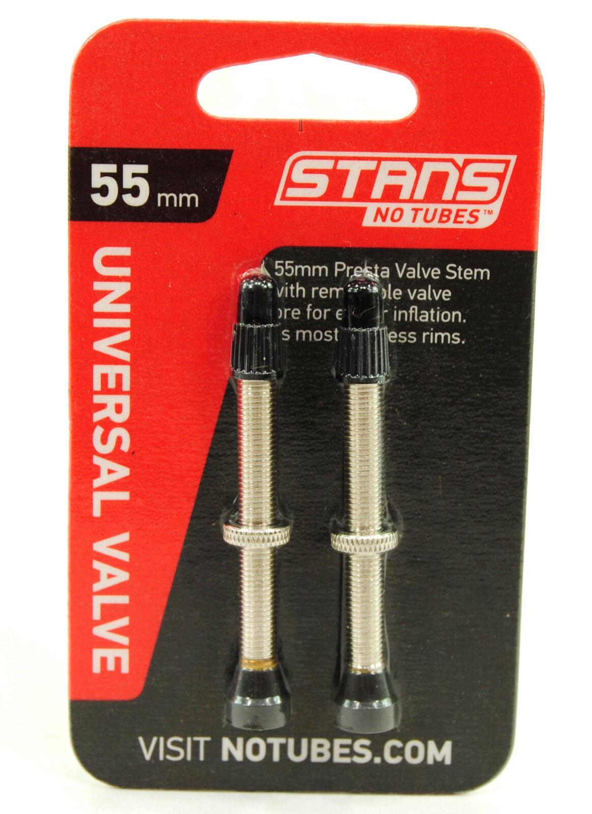 2Pcs 35mm Tubeless Presta Valve Stem Core Tubes Removable Universal Pair Bike
