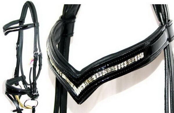 Fss Vortex V Vee forma cristal Bling alemán Confort Plaza se agravó patente Bridle