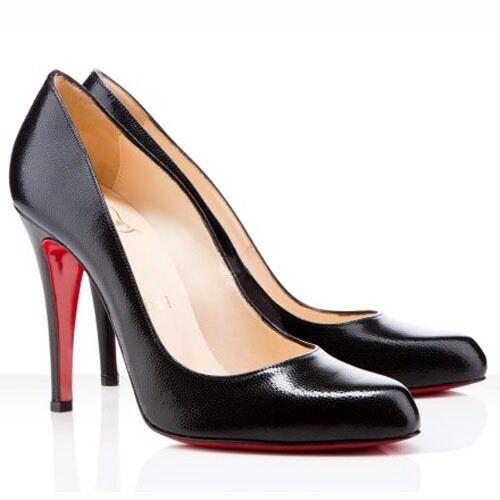 Christian Louboutin Decollete 868 100 Jazz Calf Black Patent Heels Uk 4.5 Eu37.5