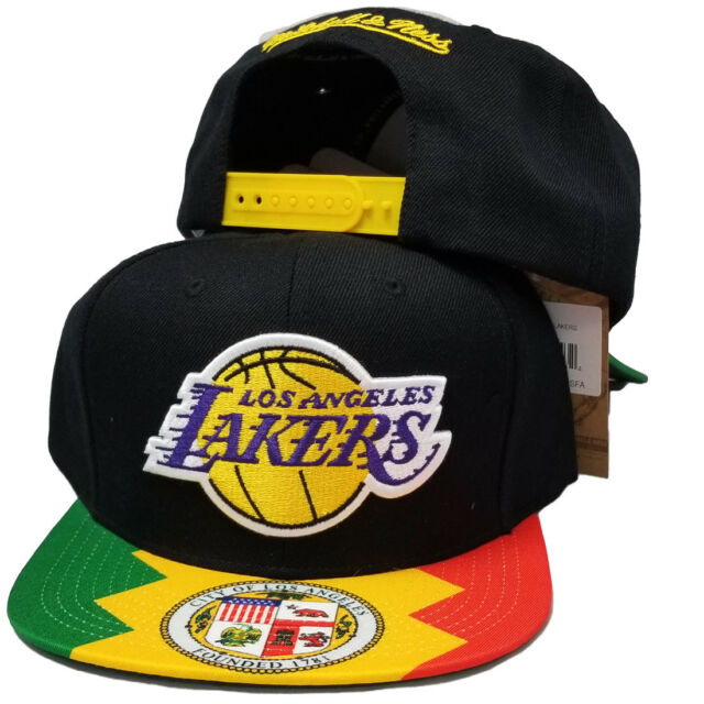 Buy Mitchell   Ness Los Angeles Lakers City Flag Snapback Bh78ri-lal ... 23d1af5e5427