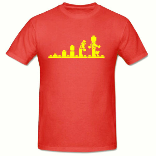 Party Lego Evolution Children/'s,Boys T-Shirt,AGES 3-15 Years,Tee Shirt,Birthday