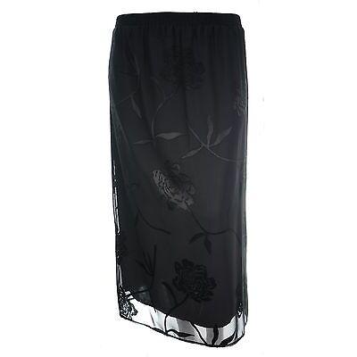 Ladies new plus size long lined print pencil skirts elastic waist ladies 14 - 26