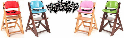 Keekaroo Height Right Kids Wooden High Chair Age 3 years and up to a 250 lbs.