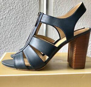 Michael Kors Damita Shoes,Sandals, Sling back,Open toes, Admiral-Navy Blue SZ 9M