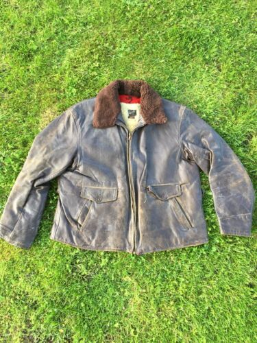 Vintage 1940's Lampelt Horsehide Leather Jacket