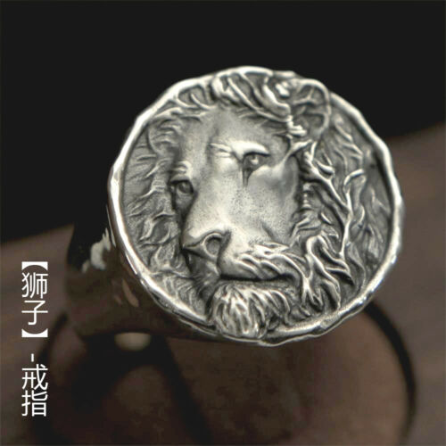 Sterling Silver LEO Ring Lion Fashion Jewelry Mens All size Christmas Gift