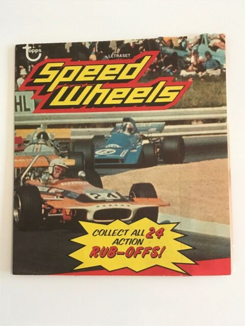 Letraset Action Transfers - SPEED WHEELS - Set No. 1 - F1/NASCAR - Unused