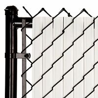 Chain Link White Solitube™ Max-privacy Slat For 4-ft Fence Bottom Lock