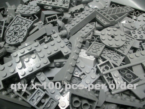 Pcs Dark Stone Gray LEGO Random Pieces from Huge Bulk Lot of Bricks Plate 100