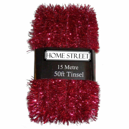 50FT X 5CM TINSEL RED COLOUR