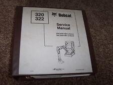 Bobcat Ingersoll Rand 320 322 Excavator Factory Shop Service Repair Manual