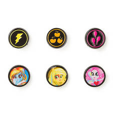 My Little Pony Equestria Girl Button Stud Earrings Rainbow Dash Rocks Applejack