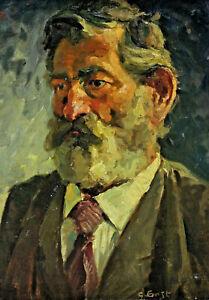 Gustav-ERNST-1858-1945-Portrait-eines-Mannes-mit-Bart