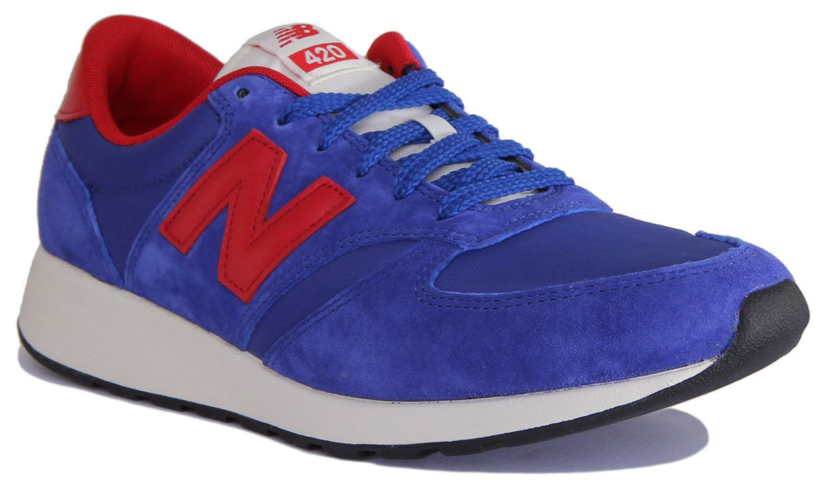 New Balance MRL420SM Men Suede Leather bluee Red Trainers 7-12.5
