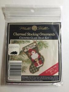 Mill Hill Charmed Christmas Stocking Glass Beaded Kit