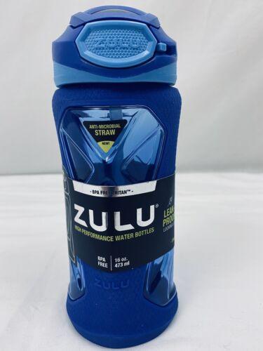 Zulu 16 oz couple Tritan bisphenol A Free Plastique Sport bouteille d/'eau bleu à manches NEUF environ 453.58 g