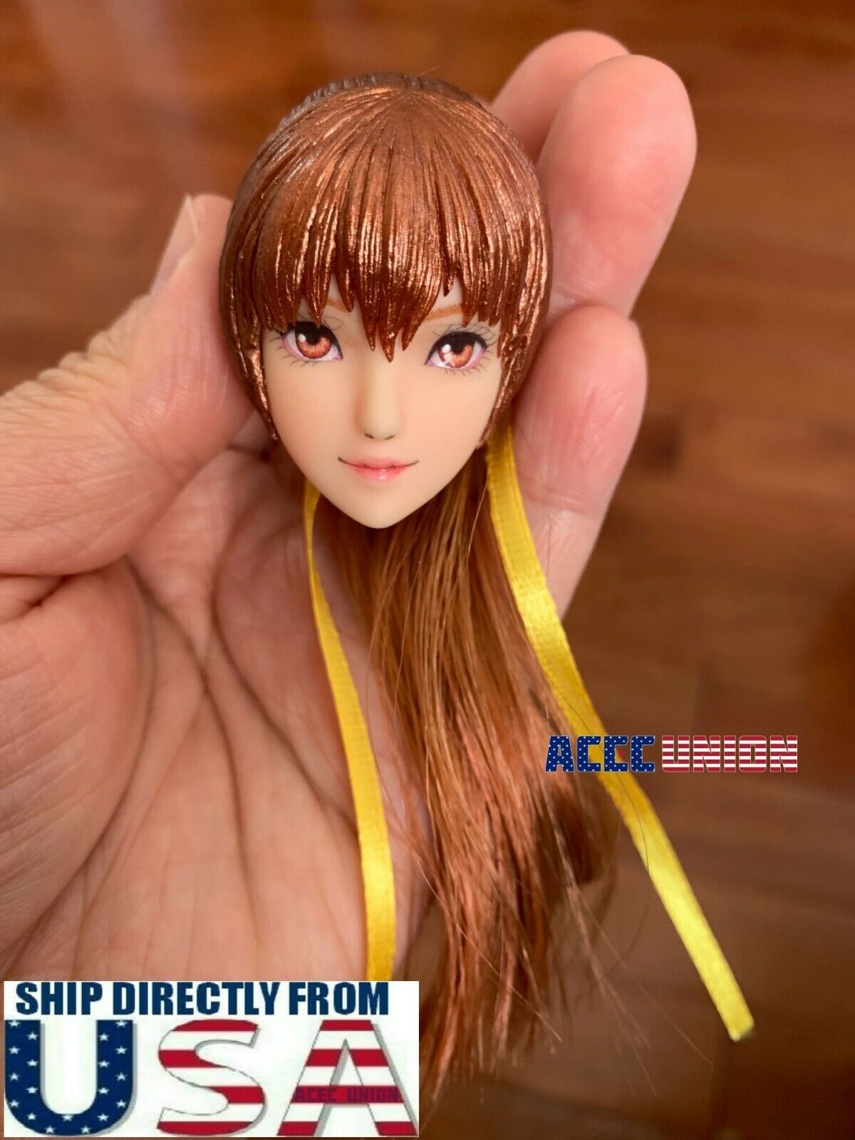 1 6 Kasumi OB Female Head Sculpt Ponytail Hair For 12  PHICEN TBL UD Figure USA