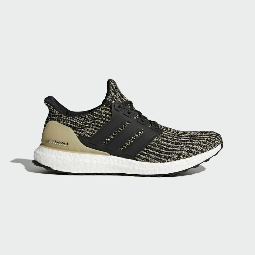{BB6170} MEN'S ADIDAS ULTRA BOOST RUNNING SHOE BLACK/KHAKI GOLD/WHITE *NEW* The most popular shoes for men and women