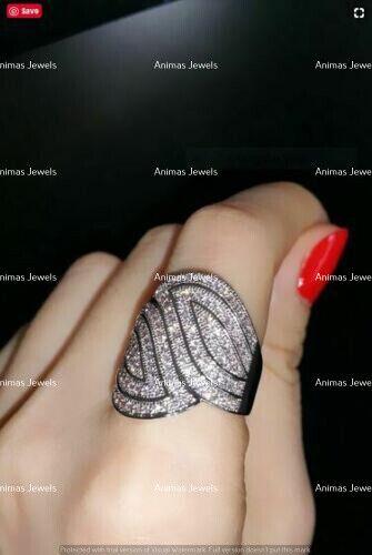 2 Ct Round Diamond Antic Design Women/'s Fashion Wedding Ring 14K White Gold Over