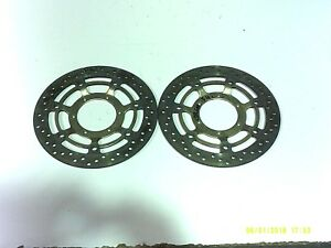 HONDA-CBR600-F4I-PAIR-FRONT-BRAKE-DISC-ROTORS