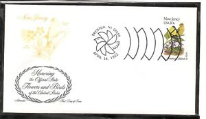US-SC-1982-State-Birds-And-Flowers-New-Jersey-FDC-Artmaster-Cachet