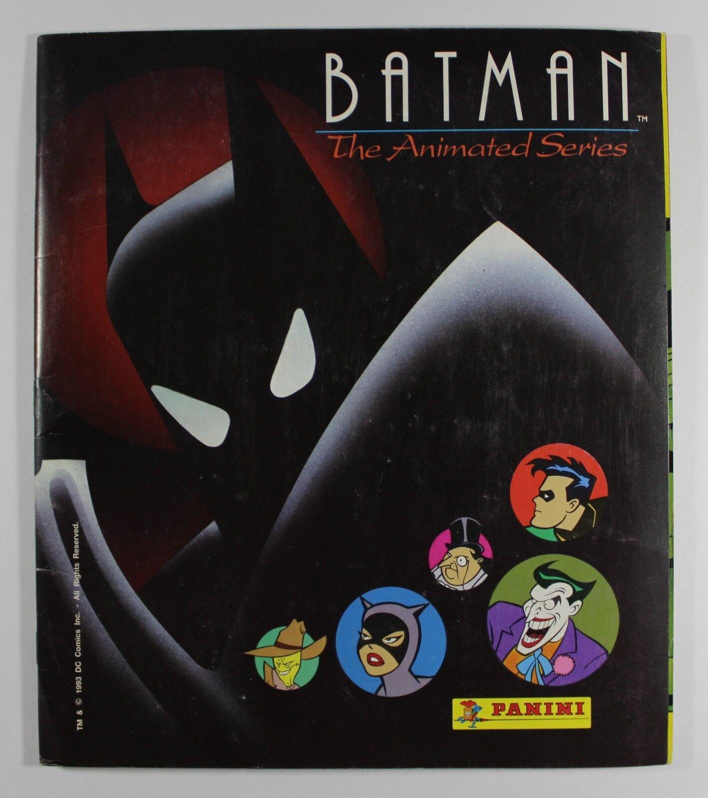 1993 Panini BATMAN ANIMATED SERIES TRADING CARDS ALBUM 100% cmp cmp cmp w ALL holo cards 7e5005