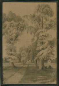 Gracie Newth - Early 20th Century Graphite Drawing, Stonehouse Court