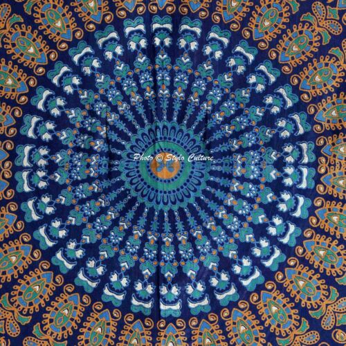Indian Mandala Wall Hanging Tapestry Bedding Bedspread Hippie Bohemian Bedsheet