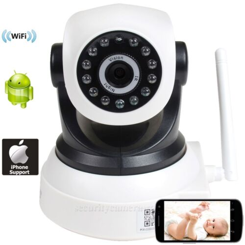 IP//Network Security Camera Baby Monitor Wireless Wi-Fi IR Day Night Vision bkw