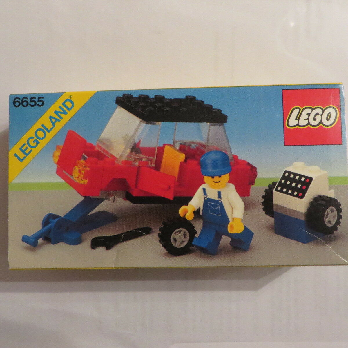 Lego® 6655 Rarität Legoland Autoreparatur Reifenmontage 1984 Neu und OVP