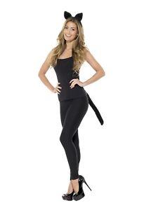 Deguisement Chat Halloween adulte chat noir ensemble oreilles et queue costume dÉguisement