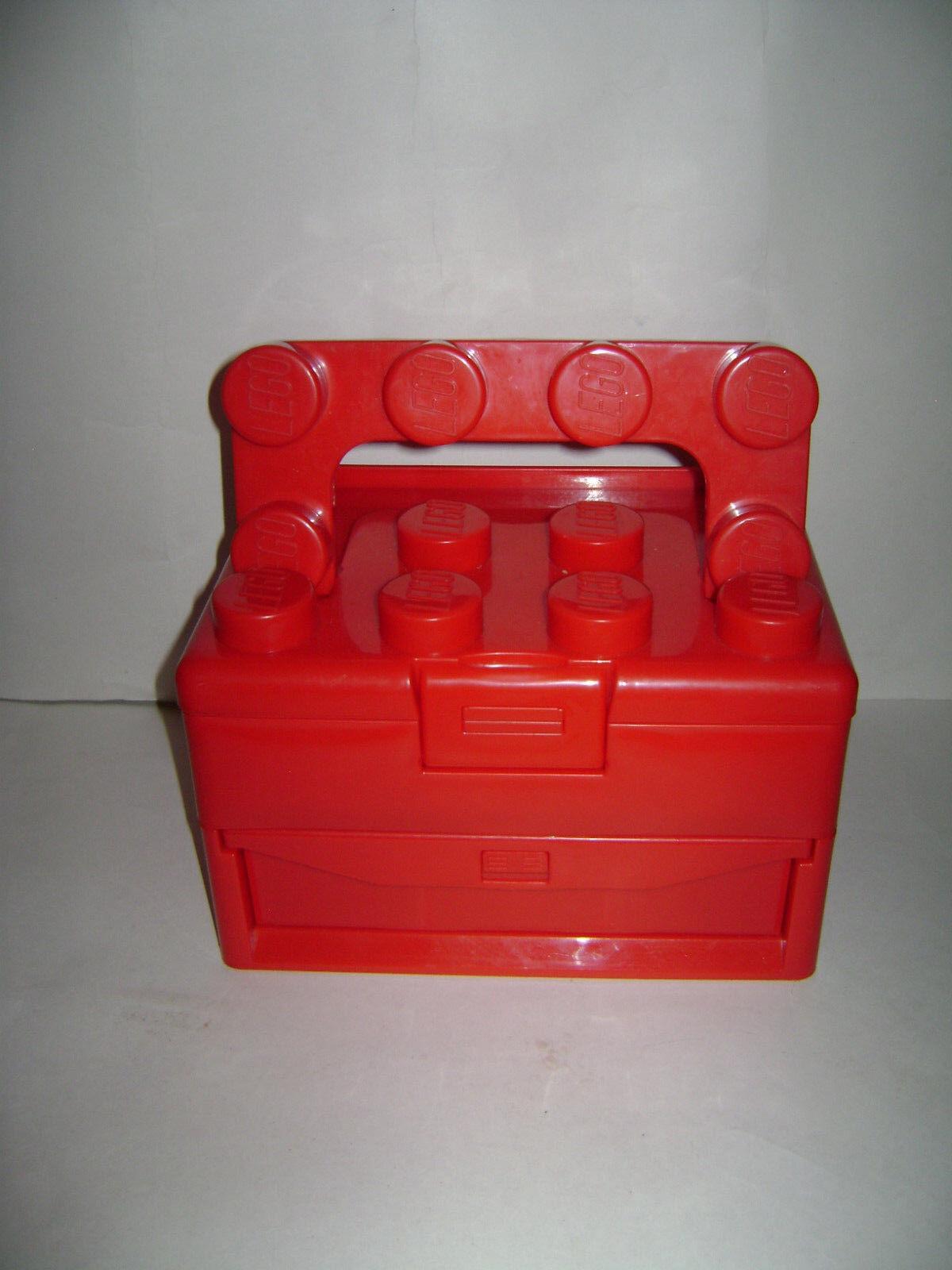 LEGO 2011 rosso CASE STORAGE scatola with  HeLE RETIrosso  Spedizione gratuita per tutti gli ordini