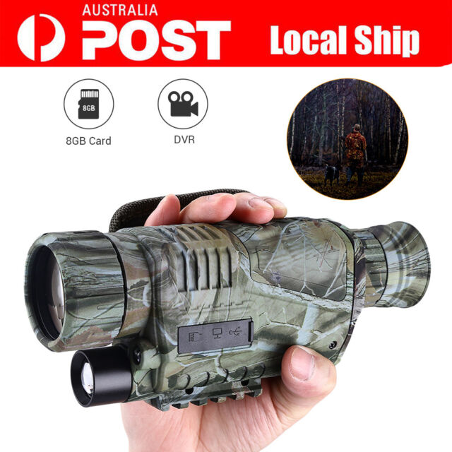 Night Vision Cam Goggles Monocular IR Surveillance Wildlife Hunting Scope+8GB AU