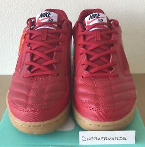 7e728b4ce Nike x Supreme SB Gato UK 9.5 Red White Gum AR9821 600 Deadstock ...