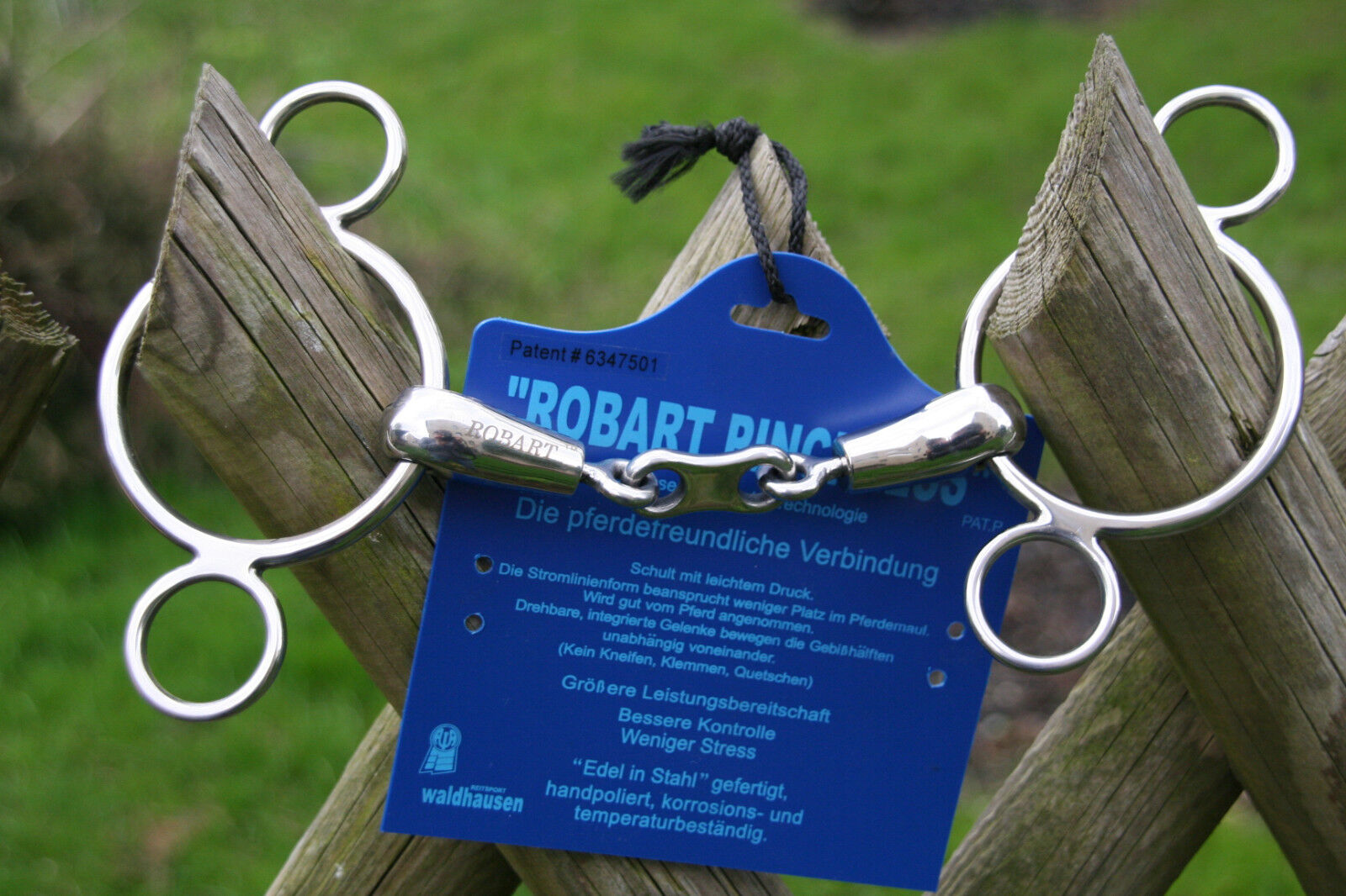 Robart Robart Robart Pinchless Edelstahl Gebiss doppelt gebrochen 12,5 cm 18 mm Dreiringtrense 738a42