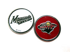 NHL Minnesota Wild Golf Ball Marker Enamel Metal Team Logo 2 Sided Hat