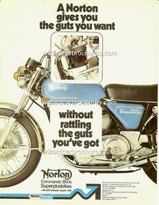 1975 NORTON 850 COMMANDO A3 POSTER AD ADVERT ADVERTISEMENT SALES BROCHURE