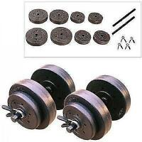 Golds Gym 40 Lb Vinyl Dumbbell Set Weight Hand Weights Adjustable