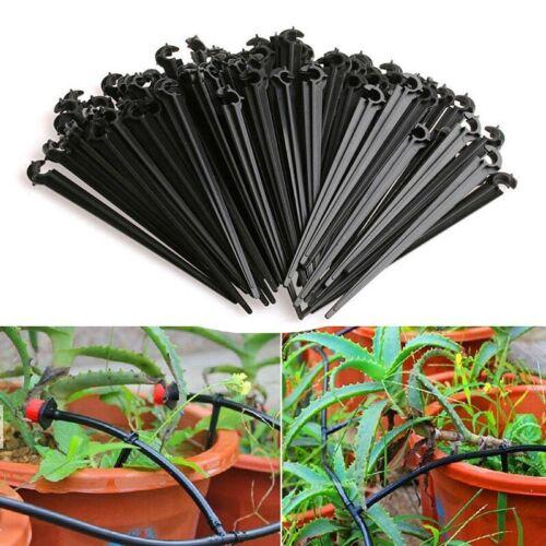50//100pcs Garden Drip Irrigation 4mm//7mm Micro Hose Fixed Holder Support Bracket