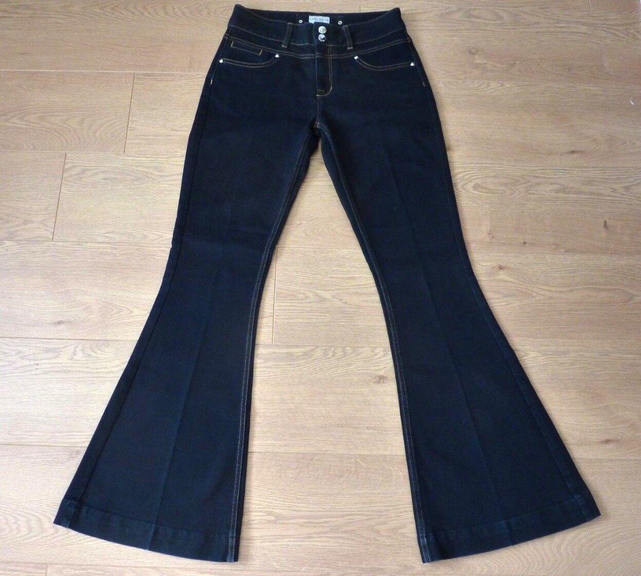 Karen Millen Ladies Double Button Flarot Dark Blau Jeans Größe UK 10 W28  L32