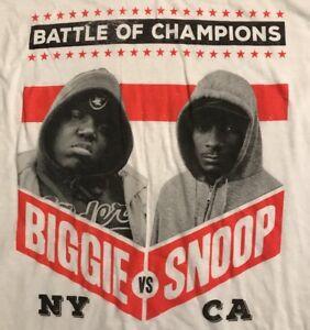 Hip Hop Rap Music Battle Men's Shirt: NY BIGGIE SMALLS vs